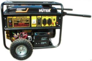 Генератор Huter DY6500LX с колесами и АКБ